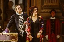 Thomas Allen (The Count), Kiri Te Kanawa (The Countess Madeleine) in CAPRICCIO at The Royal Opera, Covent Garden, London WC2 26/01/1991 music: Richard Strauss libretto: Clemens Krauss & Richard Straus...
