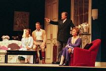 l-r: Kathryn Harries (Clairon), Rodney Gilfrey (The Count), Victor von Halem (La Roche), Kiri Te Kanawa (The Countess) in CAPRICCIO at Glyndebourne Festival Opera, East Sussex, England 18/07/1998 mus...