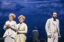 l-r: Renee Fleming (Fiordiligi), Suzanne Johnston (Dorabella), James Maddalena (Don Alfonso) in COSI FAN TUTTE by Mozart at Glyndebourne Festival Opera, East Sussex, England 03/05/1992 music: Wolfgang...