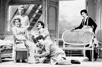 l-r: Renee Fleming (Fiordiligi), Suzanne Johnston (Dorabella), Gerald Finley (Guglielmo - rear), John Mark Ainsley (Ferrando), Lillian Watson (Despina) in COSI FAN TUTTE by Mozart at Glyndebourne Fest...