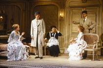 l-r: Amanda Roocroft (Fiordiligi), Kurt Streit (Ferrando), Gianna Rolandi (Despina), Suzanne Johnston (Dorabella), Jake Gardner (Guglielmo) in COSI FAN TUTTE by Mozart at Glyndebourne Festival Opera,...