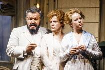 l-r: Claudio Desderi (Don Alfonso), Suzanne Johnston (Dorabella), Amanda Roocroft (Fiordiligi) in COSI FAN TUTTE by Mozart at Glyndebourne Festival Opera, East Sussex, England 24/05/1991 music: Wolfga...
