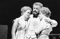 l-r: Amanda Roocroft (Fiordiligi), Claudio Desderi (Don Alfonso), Suzanne Johnston (Dorabella) in COSI FAN TUTTE by Mozart at Glyndebourne Festival Opera, East Sussex, England 24/05/1991 music: Wolfga...