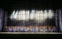 final scene: the Old Believers gather for mass suicide in KHOVANSHCHINA performed by English National Opera (ENO), London Coliseum, London WC2 24/11/1994 music & libretto: Modest Mussorgsky orchestrat...