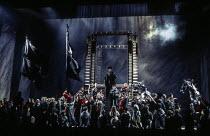 centre: Willard White (Prince Ivan Khovansky) in KHOVANSHCHINA at at English National Opera (ENO), London Coliseum, London WC2 24/11/1994 music & libretto: Modest Mussorgsky orchestration: Dmitri Shos...