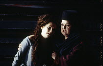 l-r: Cathryn Pope (Emma), Anne-Marie Owens (Marfa) in KHOVANSHCHINA performed by English National Opera (ENO) at the London Coliseum, London WC2 24/11/1994 music & libretto: Modest Mussorgsky orchestr...
