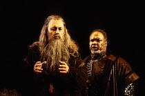 l-r: Gwynne Howell (Dosifey), Willard White (Prince Ivan Khovansky) in KHOVANSHCHINA performed by English National Opera (ENO) at the London Coliseum, London WC2 24/11/1994 music & libretto: Modest Mu...