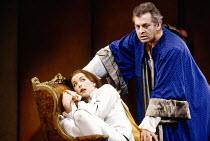 Christiane Oertel (Cherubino), Thomas Allen (Count Almaviva) in LE NOZZE DI FIGARO at The Royal Opera, Covent Garden, London WC2 18/12/1991 music: Wolfgang Amadeus Mozart libretto: Lorenzo Da Ponte co...