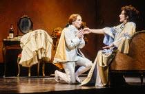 l-r: Christiane Oertel (Cherubino), Felicity Lott (Countess Almaviva) in LE NOZZE DI FIGARO at The Royal Opera, Covent Garden, London WC2 18/12/1991 music: Wolfgang Amadeus Mozart libretto: Lorenzo Da...