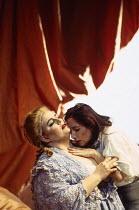 l-r: Christine Brewer (Countess Almaviva), Monica Bacelli (Cherubino) in LE NOZZE DI FIGARO at The Royal Opera, Covent Garden, London WC2 25/04/1994 music: Wolfgang Amadeus Mozart libretto: Lorenzo Da...