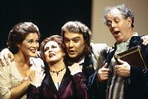 l-r: Sylvia McNair (Susanna), Della Jones (Marcellina), Bryn Terfel (Figaro), Gwynne Howell (Bartolo) in LE NOZZE DI FIGARO at The Royal Opera, Covent Garden, London WC2 25/04/1994 music: Wolfgang Ama...
