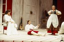 l-r: Renee Fleming (Countess Almaviva), Marie-Ange Todorovitch (Cherubino), Alison Hagley (Susanna) in LE NOZZE DI FIGARO at Glyndebourne Festival Opera, East Sussex, England 28/05/1994 music: Wolfgan...