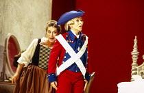 l-r: Alison Hagley (Susanna), Marie-Ange Todorovitch (Cherubino) in LE NOZZE DI FIGARO at Glyndebourne Festival Opera, East Sussex, England 28/05/1994 music: Wolfgang Amadeus Mozart libretto: Lorenzo...