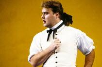 Bryn Terfel (Figaro) in FIGARO'S WEDDING at English National Opera (ENO), London Coliseum, London WC2 30/10/1991 music: Wolfgang Amadeus Mozart libretto: Lorenzo Da Ponte conductor: Paul Daniel desig...