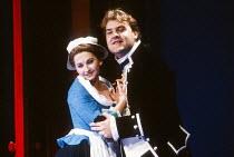 Cathryn Pope (Susanna), Bryn Terfel (Figaro) in FIGARO'S WEDDING at English National Opera (ENO), London Coliseum, London WC2 30/10/1991 music: Wolfgang Amadeus Mozart libretto: Lorenzo Da Ponte cond...