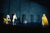Act 4 - 'invisible' in the 'dark' - l-r: Bryn Terfel (Figaro), Cathryn Pope (Susanna), Anthony Michaels-Moore (Count Almaviva), Christine Botes (Cherubino - disappearing in background), Joan Rodgers (...
