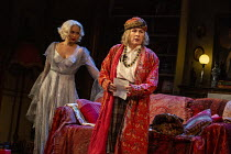 l-r: Madeleine Mantock (Elvira), Jennifer Saunders (Madame Arcati) in BLITHE SPIRIT by Noel Coward opening at the Harold Pinter Theatre, London SW1 on 21/09/2021 a Theatre Royal Bath production design...