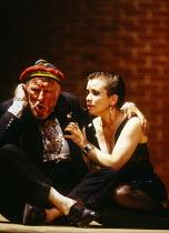 Norman Bailey (Schigolch), Christine Schafer (Lulu) in LULU at Glyndebourne Festival Opera, East Sussex, England 15/07/1996 music: Alban Berg libretto: Alban Berg after 'Erdgeist' & 'Die Buchse der Pa...