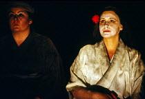 l-r: Anne-Marie Owens (Suzuki), Janice Cairns (Cio-Cio-San / Madam Butterfly) in MADAM BUTTERFLY by Puccini at English National Opera (ENO), London Coliseum, London WC2  18/11/1989 music: Giacomo Puc...