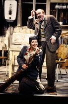 Felicity Palmer (The Mother), Norman Bailey (The Father) in HANSEL AND GRETEL at English National Opera (ENO), London Coliseum, London WC2 12/1989 music: Englebert Humperdink libretto: Adelheid Wette...