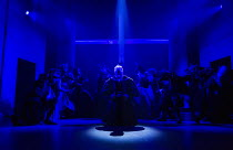 haunted by ghosts and apparitions: Ben Miles (Thomas Cromwell) in THE MIRROR AND THE LIGHT at the Gielgud Theatre, London W1 06/10/2021 adapted from her novel by Hilary Mantel & Ben Miles music: Steph...
