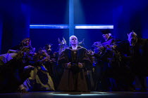 haunted by ghosts and apparitions - centre: Ben Miles (Thomas Cromwell) right: Giles Taylor (Archbishop Thomas Cranmer) in THE MIRROR AND THE LIGHT at the Gielgud Theatre, London W1 06/10/2021 adapted...