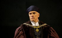 Ben Miles (Thomas Cromwell) in THE MIRROR AND THE LIGHT at the Gielgud Theatre, London W1 06/10/2021 adapted from her novel by Hilary Mantel & Ben Miles music: Stephen Warbeck design: Christopher Oram...