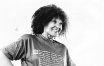 Cleo Laine rehearsing at the London Studio Centre prior to appearing at the 1987 Edinburgh Festival
