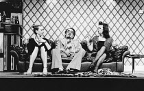 l-r: Jill Baker (Frankie), Antony Sher (Muhammad), Marion Bailey (Jackie) at the Garrick Theatre, London WC2 29/04/1981 devised & directed by Mike Leigh design: Caroline Beaver lighting: Alan O'Toole