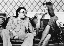 Antony Sher (Muhammad), Marion Bailey (Jackie) in GOOSE-PIMPLES at the Hampstead Theatre, London NW3 03/03/1981 devised & directed by Mike Leigh design: Caroline Beaver lighting: Alan O'Toole