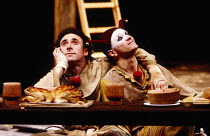 l-r: Antony Sher (Marcel Flote), Jim Hooper (Sonnerie) in RED NOSES by Peter Barnes at the Royal Shakespeare Company (RSC), Barbican Theatre, Barbican Centre, London EC2 02/07/1985 design: Farrah ligh...