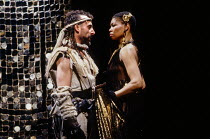 Antony Sher (Tamburlaine), Claire Benedict (Zenocrate) in TAMBURLAINE THE GREAT by Christopher Marlowe at the Royal Shakespeare Company (RSC), Swan Theatre, Stratford-upon-Avon, England 01/09/1992 des...