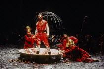 Antony Sher (Tamburlaine) in TAMBURLAINE THE GREAT by Christopher Marlowe at the Royal Shakespeare Company (RSC), Barbican Theatre, London EC2 12/10/1993 design: Johan Engels lighting: Wayne Dowdeswel...