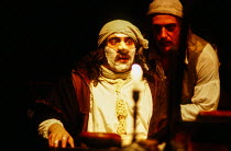l-r: Antony Sher (Moliere), David Troughton (Bouton) in MOLIERE by Bulgakov at the Royal Shakespeare Company (RSC), The Pit, Barbican Centre, London EC2 08/09/1983 in a new version by Dusty Hughes set...