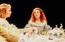 l-r: Katy Behean (Mariane), Alison Steadman (Elmire) in TARTUFFE by Moliere at the Royal Shakespeare Company (RSC), The Pit, Barbican Theatre, London EC2 28/07/1983 translated by Christopher Hampton d...