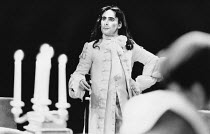 Antony Sher (Tartuffe) in TARTUFFE by Moliere at the Royal Shakespeare Company (RSC), The Pit, Barbican Theatre, London EC2 28/07/1983 translated by Christopher Hampton design: Alison Chitty lighting:...